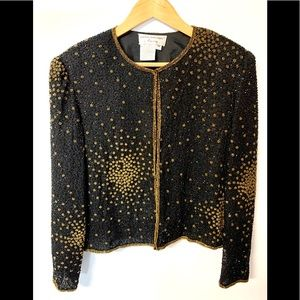 Papell Boutique beaded exquisite vintage jacket.
